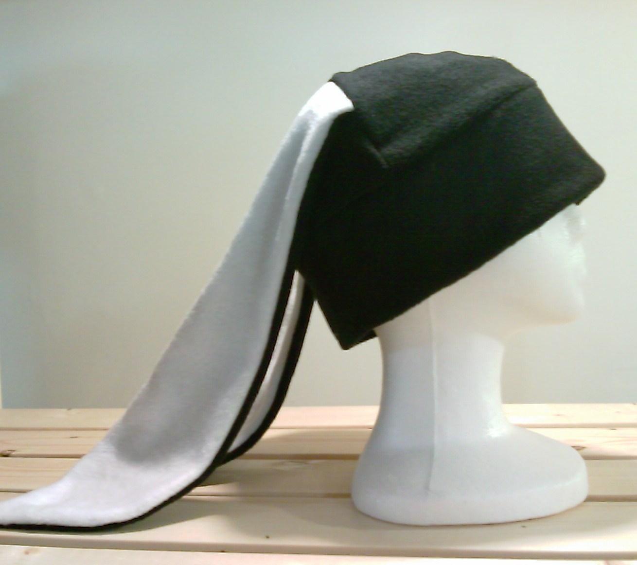 122a6caea Bunny Rabbit Ears - Bunny Fleece Hat - Rabbit Winter Hat - Bunny Cosplay  Hat - Bunny Hat - Black Rabbit Beanie - Rabbit Ear Hat