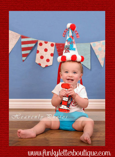 Dr Seuss Cat In The Hat Birthday Photo Prop Funky Letter Boutique