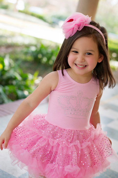 Girls Birthday Dress, Pink Petti Dress, Girls Dress