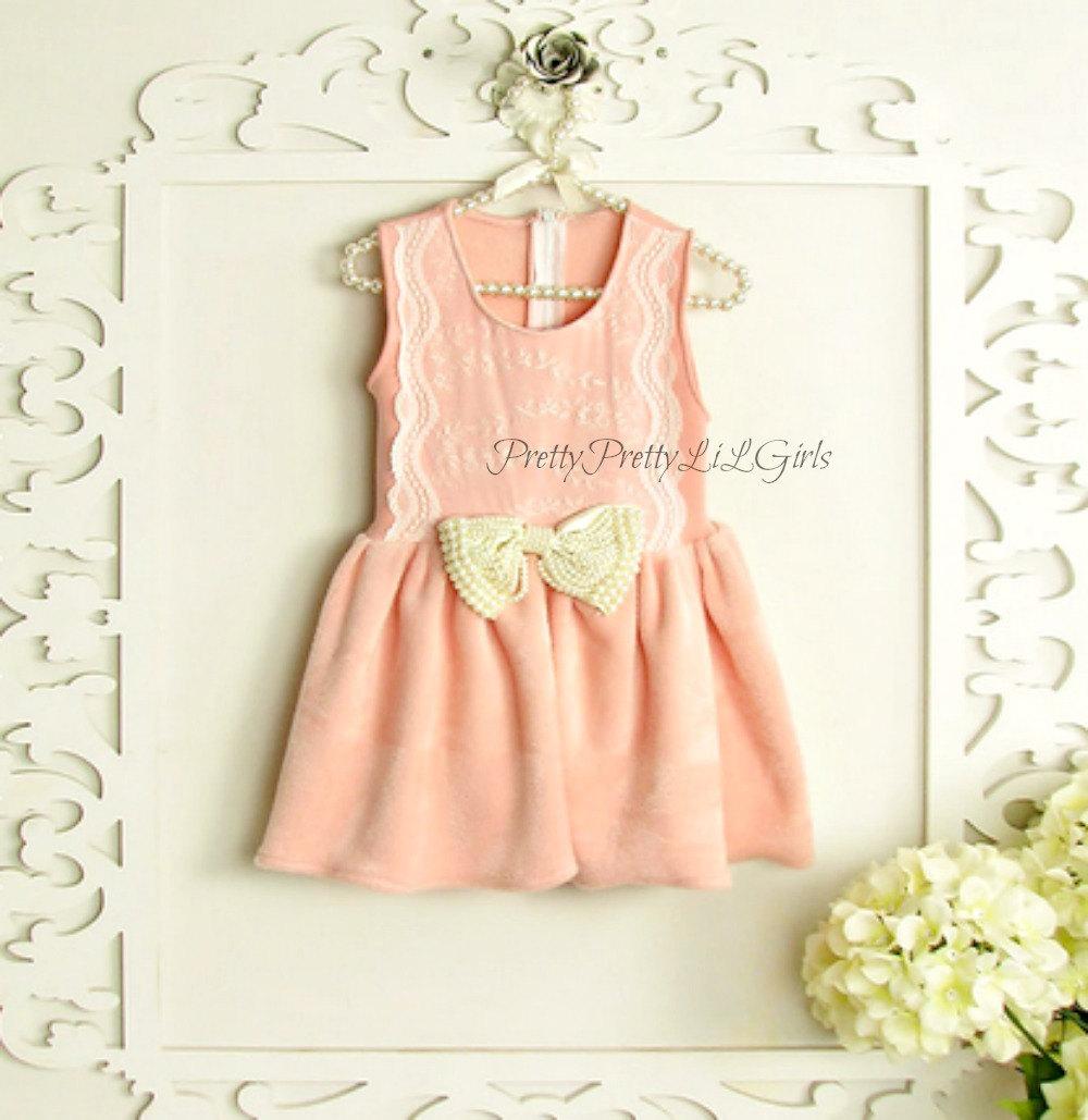 Pink Girls Dress Princess Dress Flower Girls Dress Lace Girls