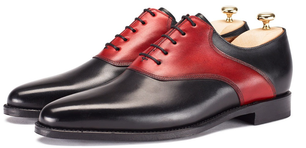 official sale popular stores top-rated cheap HANDMADE SHOES, MEN DRESS SHOES, MEN BLACK AND RED SDRESS SHOES from  Rangoli Collection