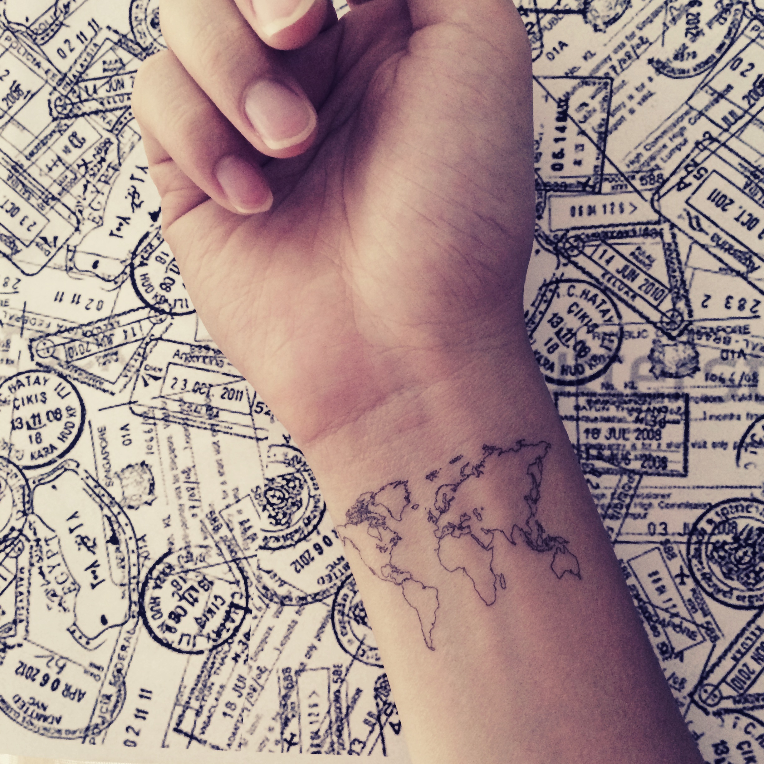 2pcs world map love travel wrist tattoo inknart temporary tattoo 2pcs world map love travel wrist tattoo inknart temporary tattoo wrist quote tattoo body gumiabroncs Images