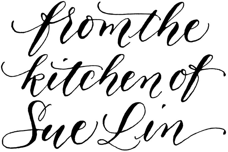 from the kitchen of stamp custom handwritten calligraphy