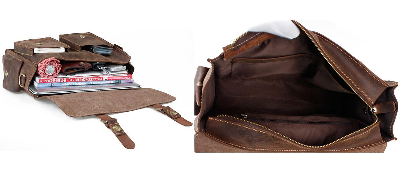 3f4c4a04a ... Handmade Vintage Leather Messenger Bag / Leather Briefcase / Leather  Satchel / 13
