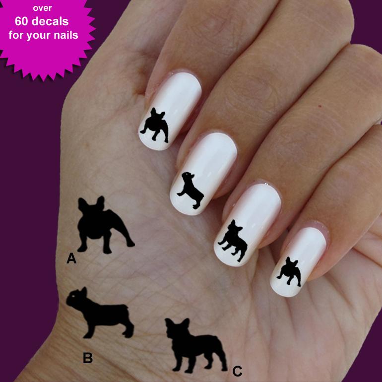 photos bild galeria french bulldog nail art. Black Bedroom Furniture Sets. Home Design Ideas
