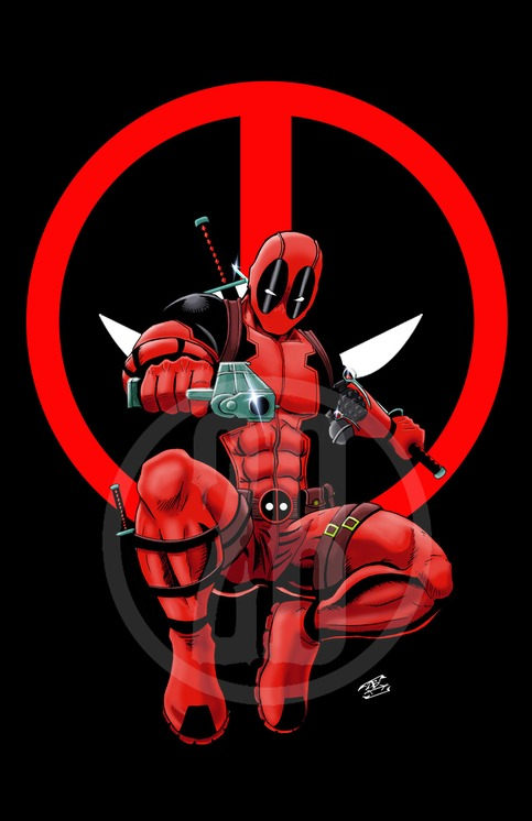 Deadpool Black With Logo Background On Storenvy