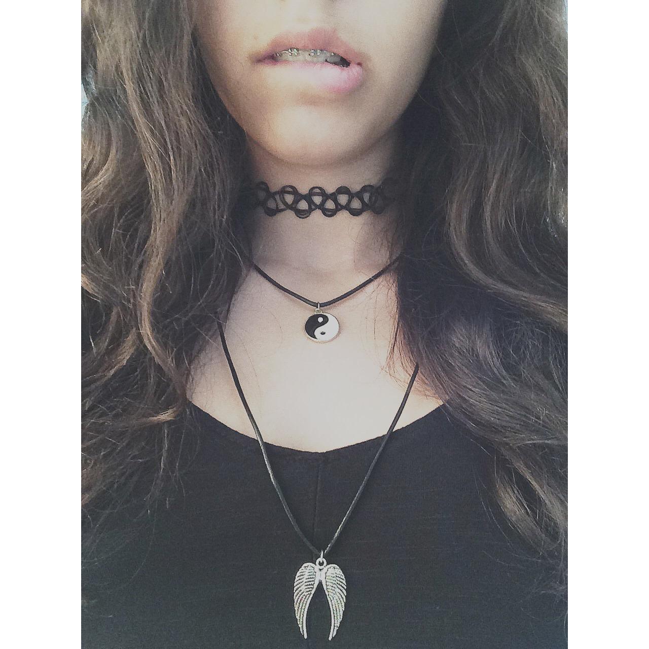Black Choker Necklace Tumblr