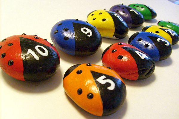 Ladybug Color Counting Stones - FREE USA Shipping on Storenvy