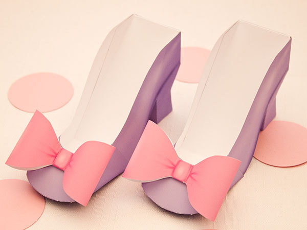 High Heel Favor Box Diy Printable Shoe With Bow Sold By Piggy Bank Parties On Storenvy