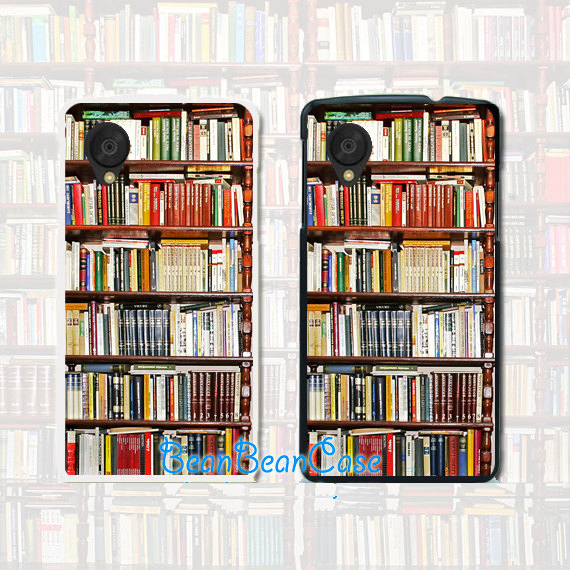 Htc One M8 Bookcase.Antique Bookshelf Bookcase Vintage Retro Case For Iphone 6