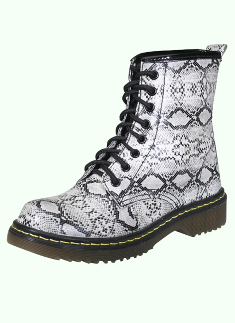 Snakeskin Lace Up Boots · Outlet Shop