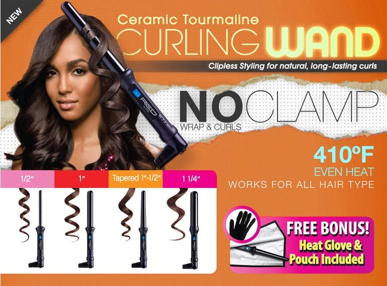 Red By Kiss Ceramic Tourmaline Curling Wand