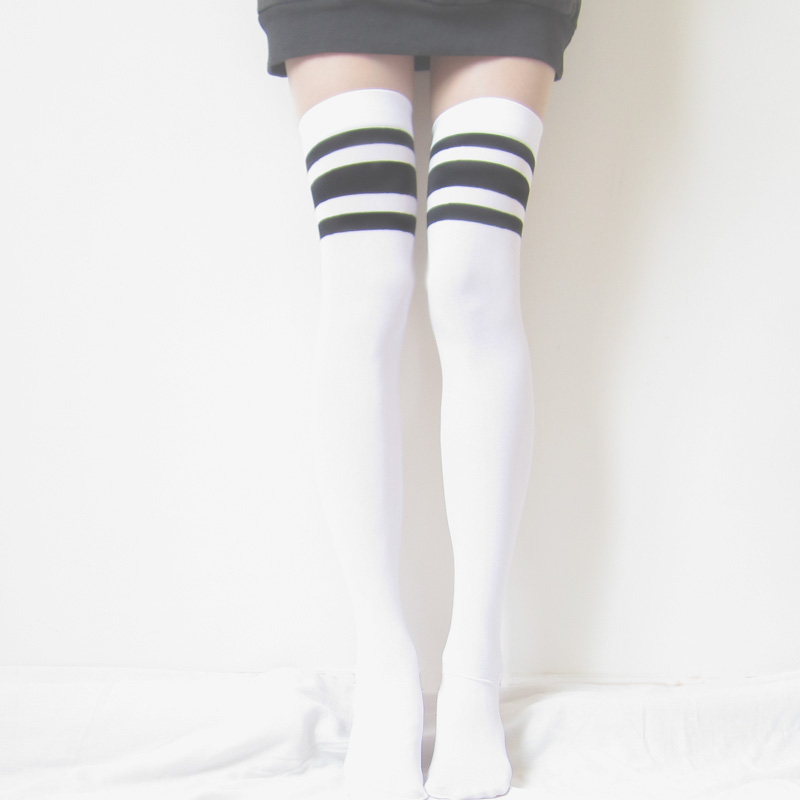 a797d651473 Energetic babe    sporty chic thigh-high socks on Storenvy