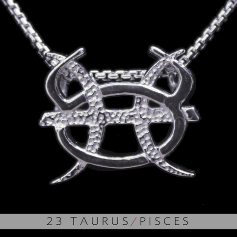 The Taurus And Pisces Silver Unity Pendant On Storenvy