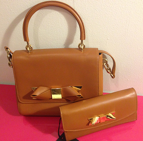 45f58cee899 Ted Baker Light Brown Asar Leather Metal Bow Cross Body Bag + Wallet Set -  Thumbnail ...