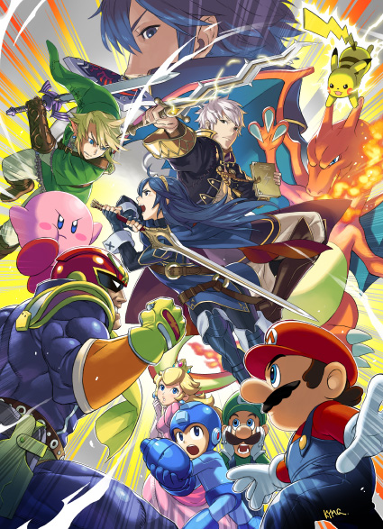 20 X 30 In Super Smash Bros Poster W Megaman And Other New