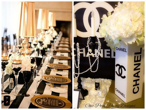 Chanel Style Custom Centerpiece On Storenvy