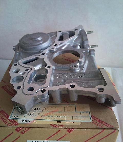 Toyota MR-2 SW20 - Genuine 3sgte Oil pump W/ Gasket and Front Crank Seal  from Saxacarparts