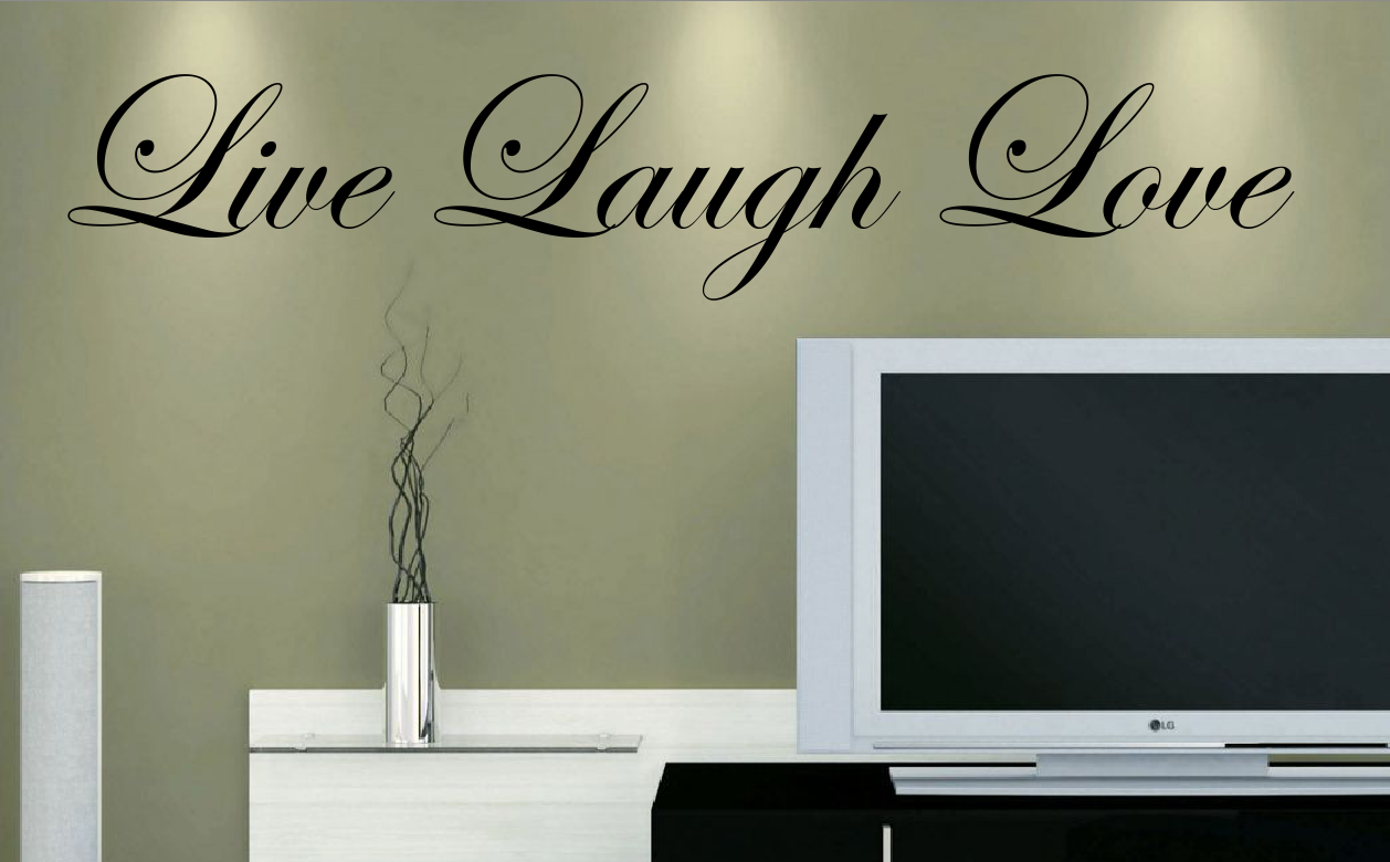 Live Laugh Love Vinyl Wall Decal On Storenvy