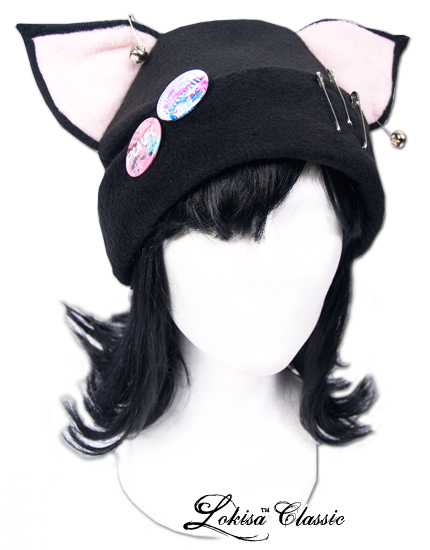 c0e592cfaf5 Cat Kitty Fleece Hat Anime Cosplay Punk JRock (Pink Ears) on Storenvy