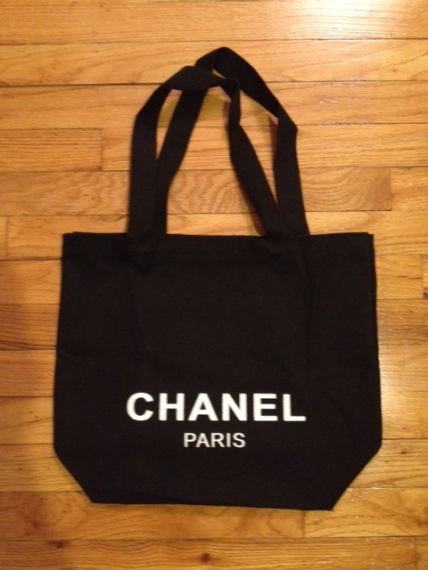 1e45290f092c New Chanel VIP Limited Edition Black Travel Tote Recycle Canvas ...