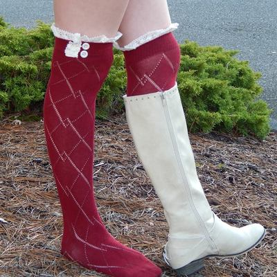 511c4769b Lace Boot Socks with vintage Lace trim and buttons · Lacie Girl · Online  Store Powered by Storenvy