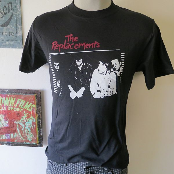 Black The Replacements Band T-Shirt, Sizes: S - XXL