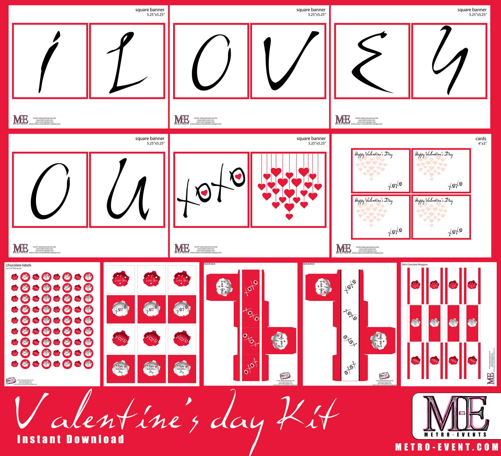 picture relating to Valentine's Day Printable Decorations called Valentines working day Banner, Valentines working day notes, Valentines working day playing cards. Valentines working day printables, Valentines working day Decorations versus Metro-Occasions Social gathering