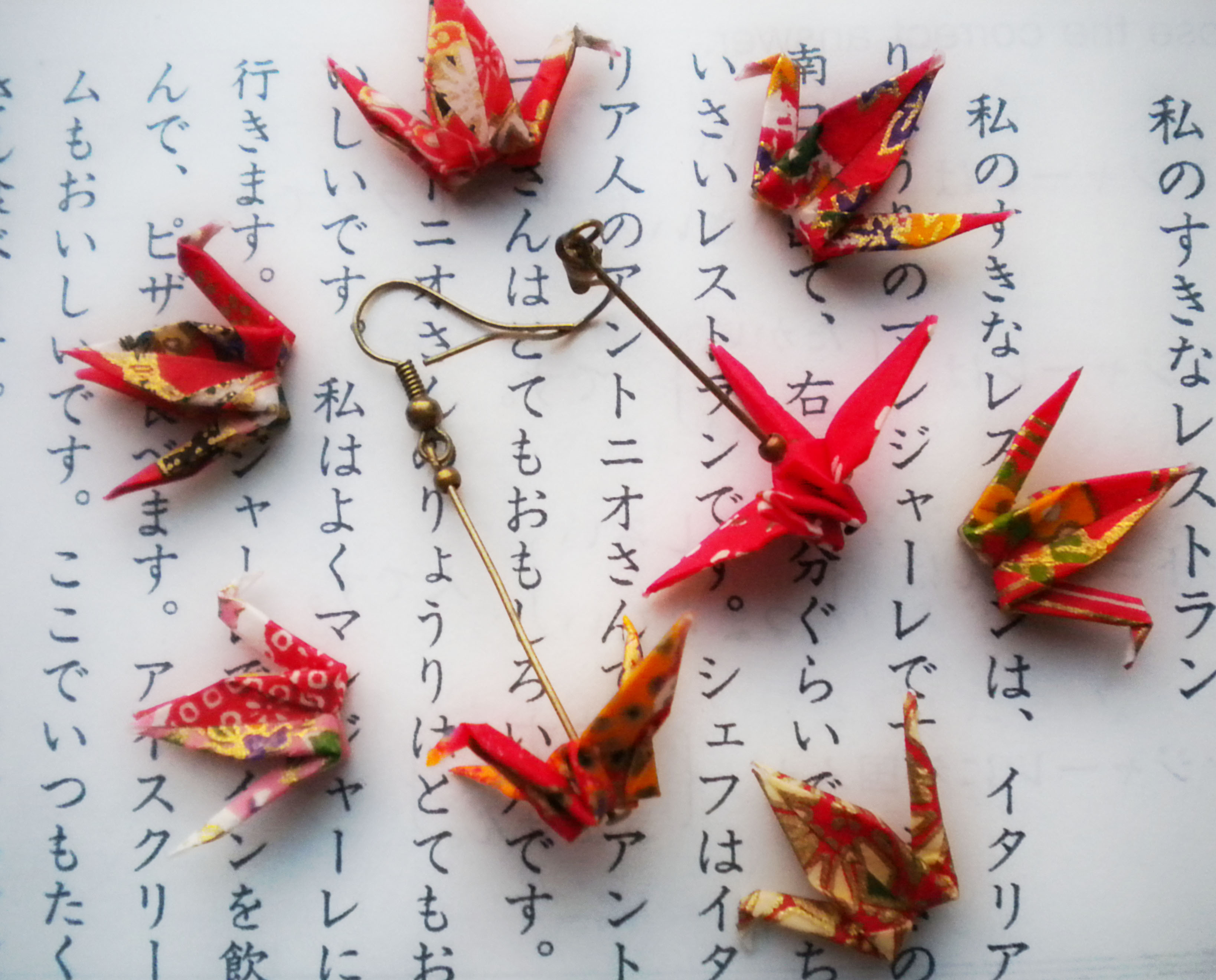 Origami Paper Crane Earrings - Japanese Themed Jewelry ... - photo#24