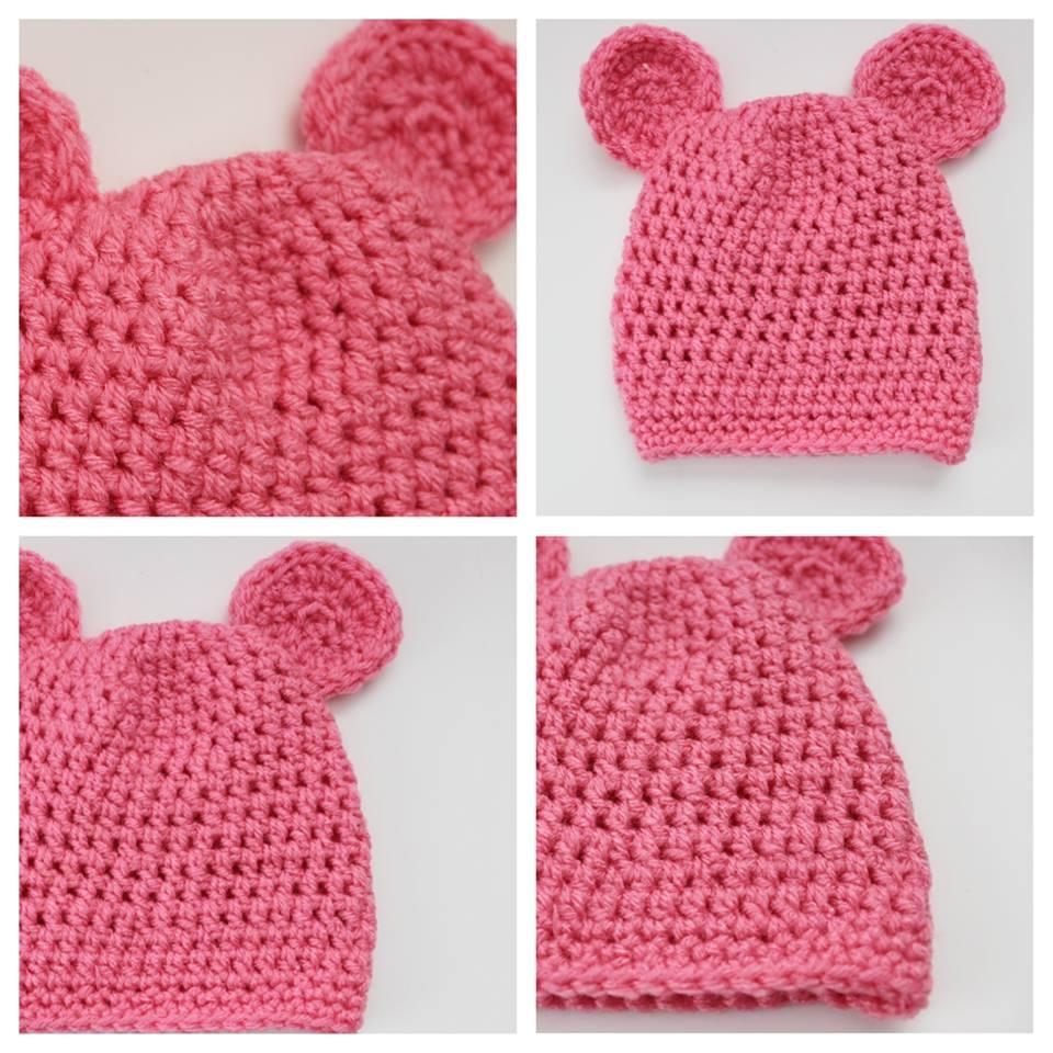 Baby Bear Pink Crocheted Baby Hat · AMERICAN SWEETHEART DESIGNS ... eb1b230c569