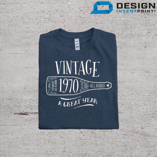 45th Birthday 1970 Birth Year Vintage T Shirt Great Present