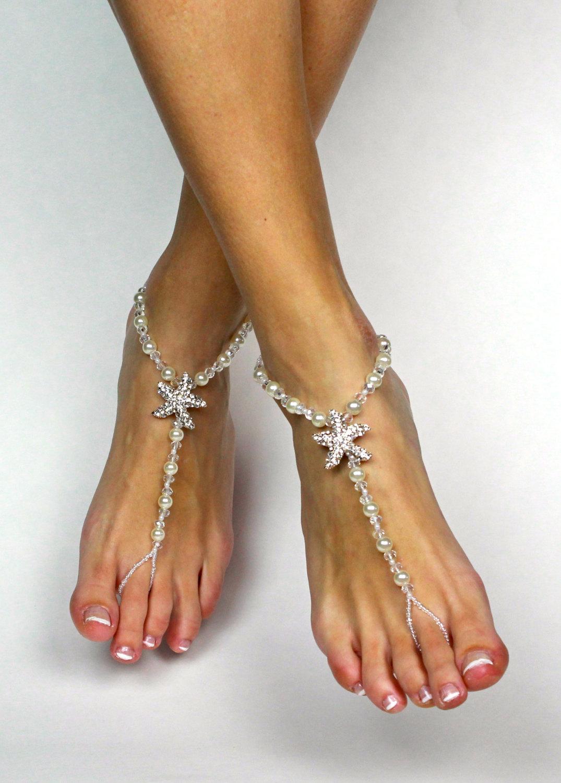 c3cc45226c37 Starfish Barefoot Sandals Beach Wedding Sandals Foot Jewelry Starfish Foot  Thong Barefoot Sandles Bridesmaids Gift Destination