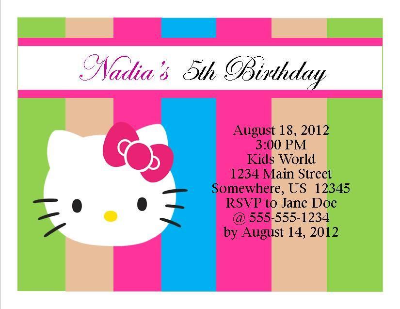 Hello Kitty Birthday Invitation 11