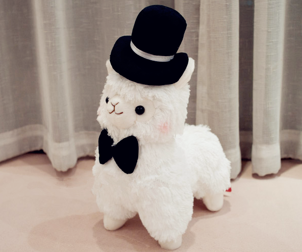 Kawaii Large Arpakasso Alpacasso Llama Alpaca Top Hat