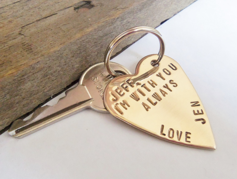 Personalized Keychain for Boyfriend Gift for Husband Key Chain ... 90a9020eeb