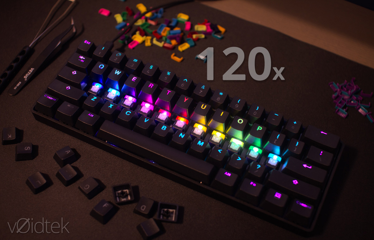 Led Color Changers 120 Pack For Cherry Mx Keyboard