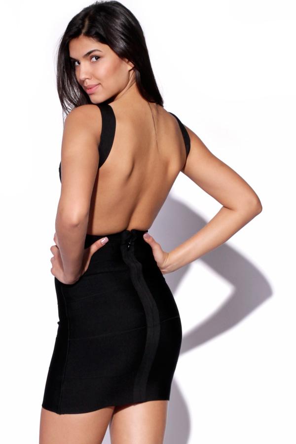 Backless Bandage Dress