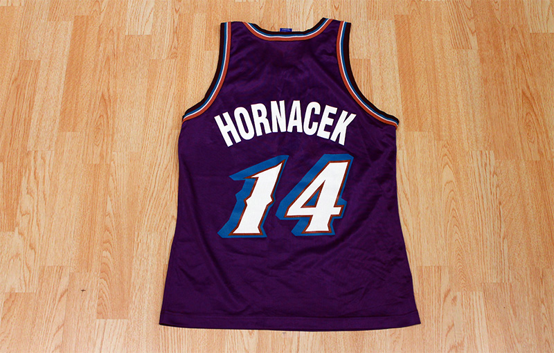 uk availability 37e02 07679 Jeff Hornacek Jazz Jersey from SLAM! Vintage