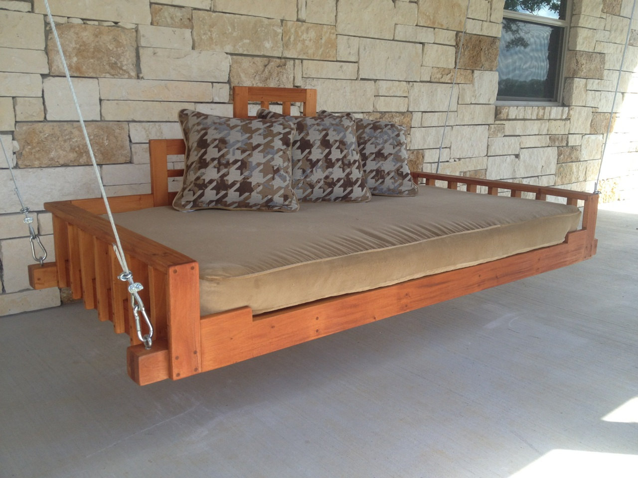 Swing Bed Porch Swing Outdoor Bed Hanging Bed Swing Handmade