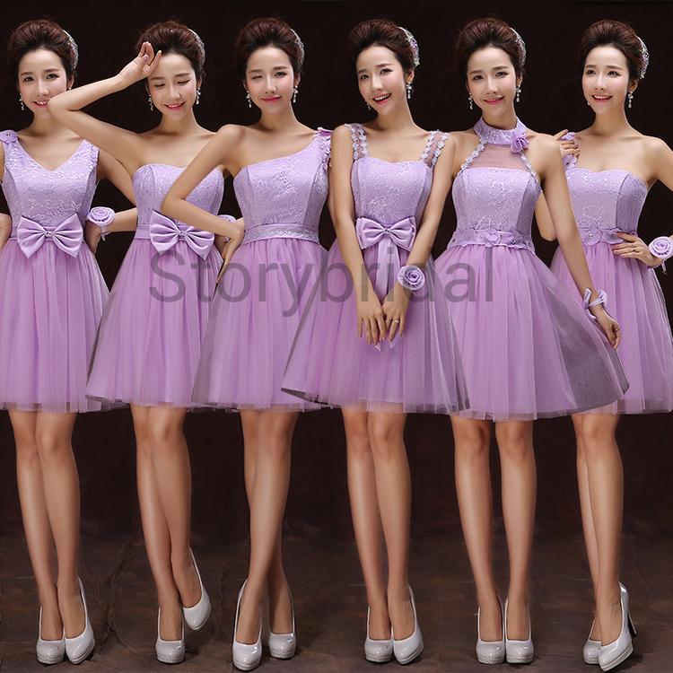 Mismatched bridesmaid dress,short bridesmaid dress, Chiffon ...