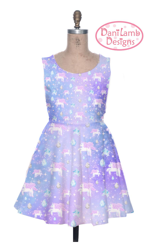 Unicorn Dress Pegasus Pony Fairy Kei Dress Pastel Galaxy