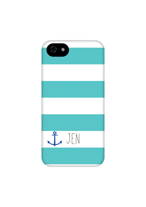 the best attitude 02afa f44d4 Aqua stripes with anchor personalized iPhone 6 case, custom, iPhone 5c  case, iPhone 5/5s case, iPhone 4/4s case, iPhone 6 plus case