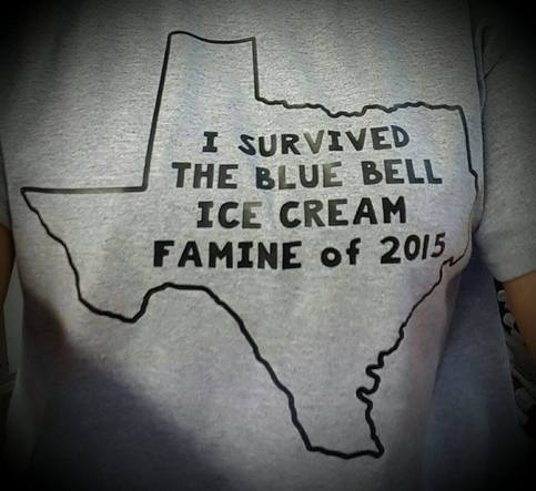 I Survived The Blue Bell Famine Of 2015 Shirt Gray Shirt