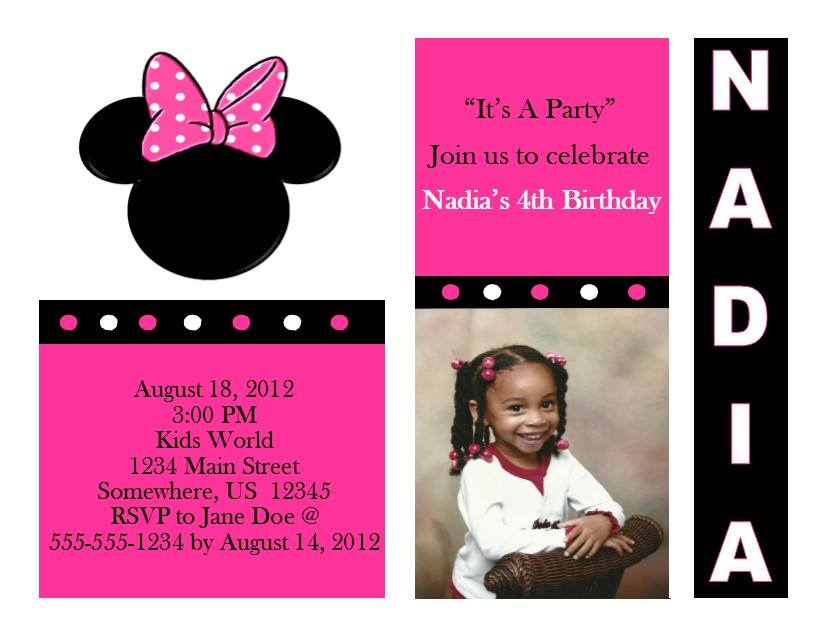 Minnie Mouse Birthday Invitation 11 From Southern Desktop Publishing