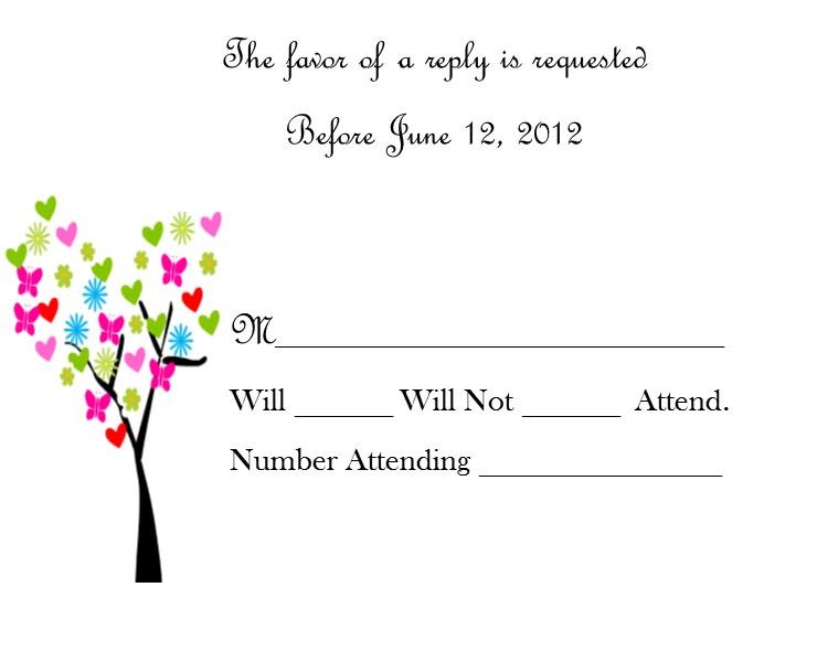 Wedding RSVP Card 18 Tree Southern Desktop Publishing Online