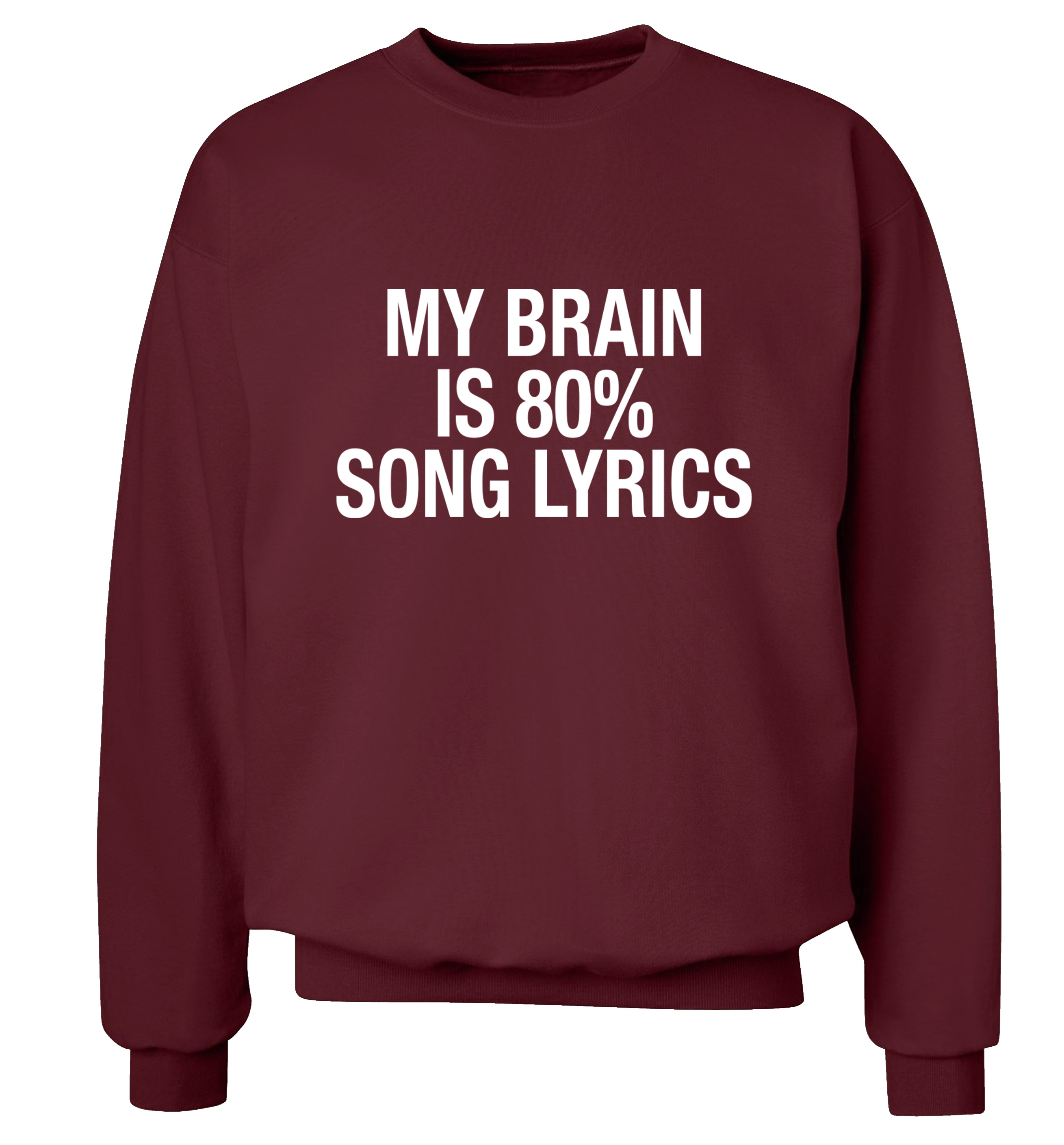 e9a47237d My brain is 80% song lyrics jumper tumblr instagram cute rock ...
