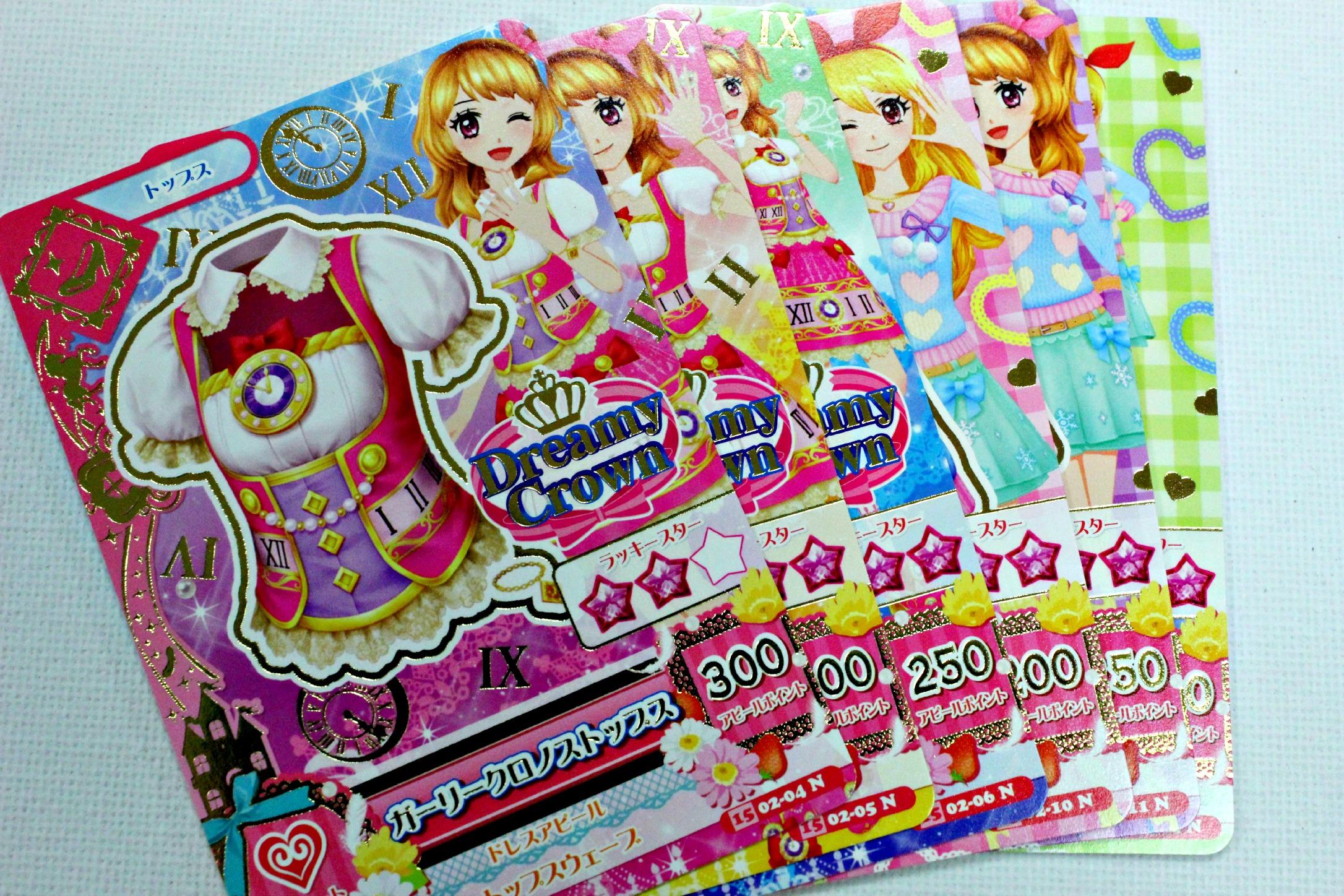 Cute Aikatsu Cards - Set D