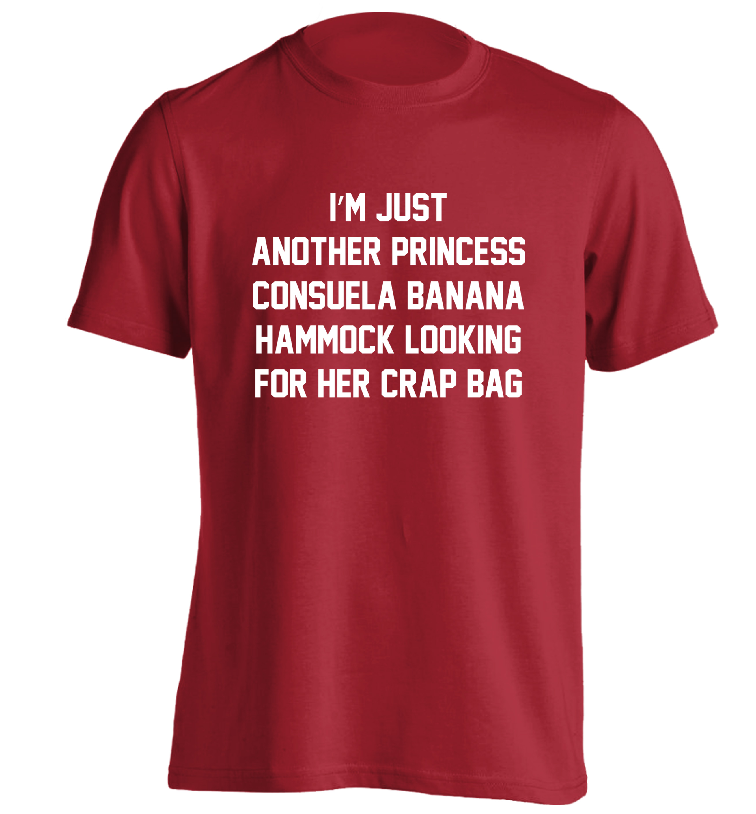 Im Just Another Princess Consuela Banana Hammock Looking For Her Tumblr Tee 120 20cardinal Red Tshirt Small
