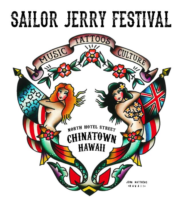 808shows hawaiian express sailor jerry festival mermaids t shirt