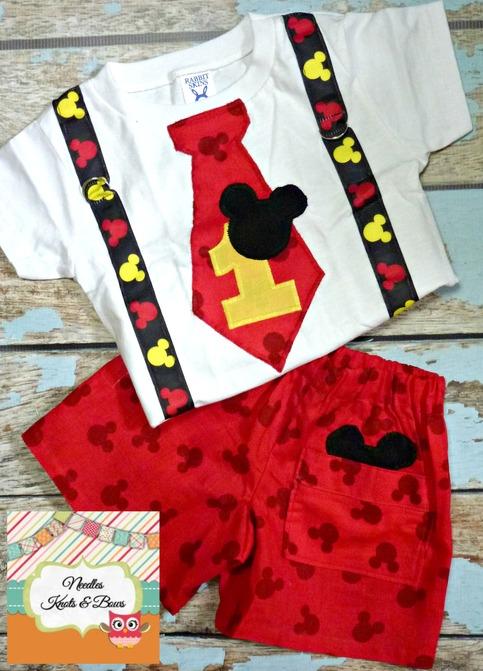 Boys Mickey Mouse Birthday Outfit Baby Boys 1st Birthday